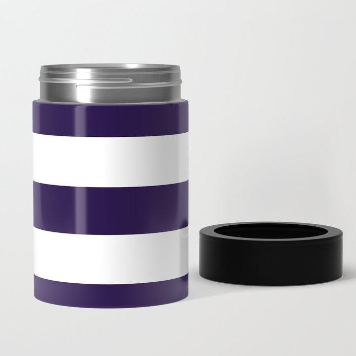 dark purple stripes Can Cooler