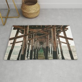 Balboa Pier Print {1 of 3} | Newport Beach Ocean Photography Teal Summer Sun Wave Art Rug