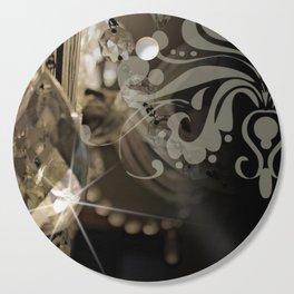 Sparkly Chandelier & Damask Cutting Board