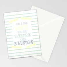 Oh i do like to be beside the seaside Stationery Cards