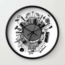 Drums & Percussion Wall Clock