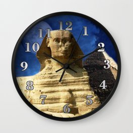 Sphinx  and Pyramid Wall Clock