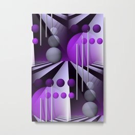 3D - abstraction -93- Metal Print