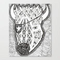 Bison's Last Stand Canvas Print