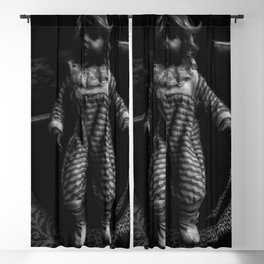 Livin' Doll - Black and White Blackout Curtain
