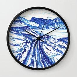 Blue landscape Wall Clock