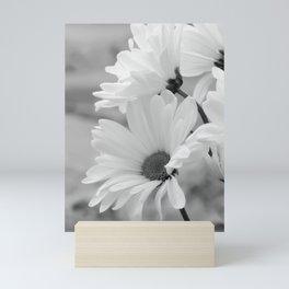 Daisies in Black and White Mini Art Print