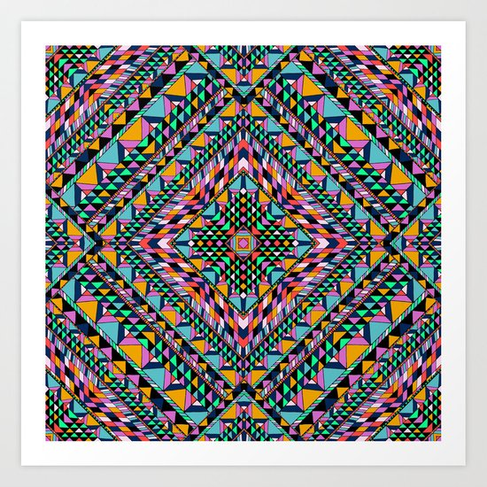 Triangle Takeover Art Print