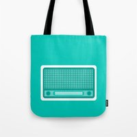 radio Tote Bags featuring radio by brittcorry