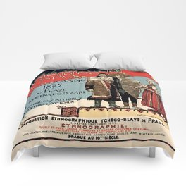 Czechoslav ethnographic exposition vintage ad Comforters