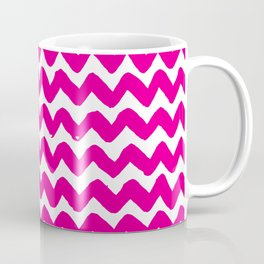 Pink Brushstroke Chevron Pattern Coffee Mug