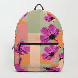 Geometric Flowers Backpack