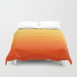 Orange and yellow ombre polygonal geometric pattern Duvet Cover