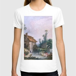 Landscape with a Watermill - Francois Boucher (1703-1770) T-shirt