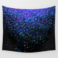 gravity Wall Tapestries featuring gravity by Bunny Noir