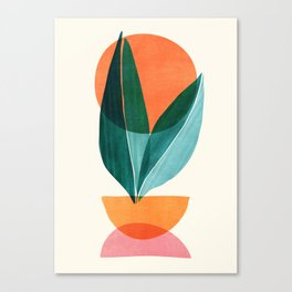 Nature Stack II / Abstract Shapes Illustration Canvas Print
