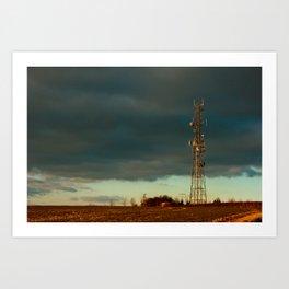 Storm over Combe Art Print