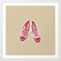 converse Art Prints featuring Converse by Enrique Parra Aldama