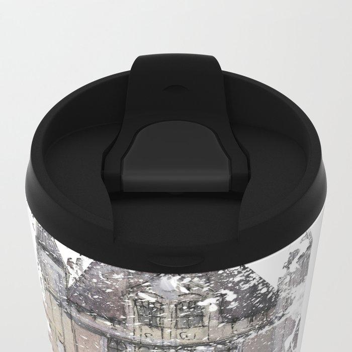 London map - Tower Bridge painting Metal Travel Mug