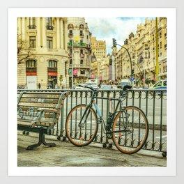 Gran Via Street, Madrid, Spain Art Print