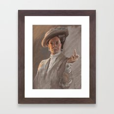Maggie Smith Gives the Finger Framed Art Print