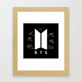 BTS Logo& Signature Framed Art Print