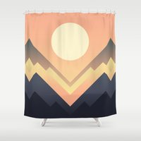 sun Shower Curtains featuring The Sun Rises by Picomodi