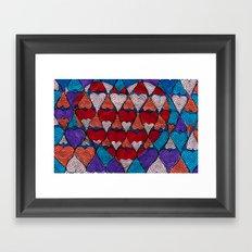 Op Heart Framed Art Print