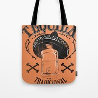 tequila Tote Bags featuring Tequila Tradicional by Tshirt-Factory