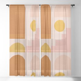 Abstraction_SHAPES_Minimalism_01 Sheer Curtain