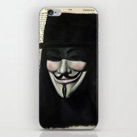 vendetta iPhone & iPod Skins featuring Vendetta by Coreypopp