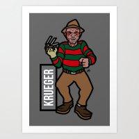 freddy krueger Art Prints featuring Freddy Krueger by AhamSandwich