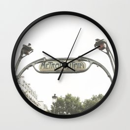 Metropolitain Sign Wall Clock