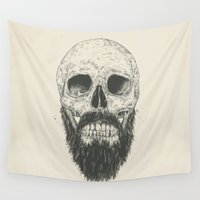 beard Wall Tapestries featuring The beard is not dead by Balazs Solti