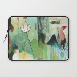 """""""Fly Home"""" Original Painting by Flora Bowley Laptop Sleeve"""