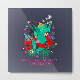 Dancing Ganesha Metal Print
