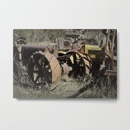 Tractor Trash Metal Print