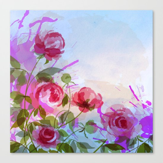 joyful flowers Canvas Print