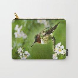 Hummingbird Flora Carry-All Pouch