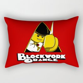 Blockwork Orange Rectangular Pillow