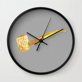Corn Pipe Wall Clock