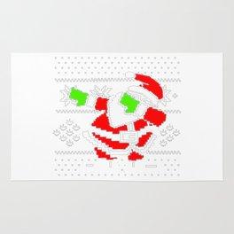 Dabbing Santa Ugly Christmas Rug