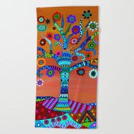 MHURI TREE OF LIFE Beach Towel