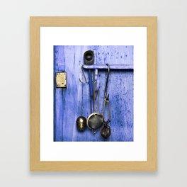 BLUE KITCHEN EQUIPMENT Framed Art Print