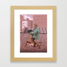 City bikes Framed Art Print