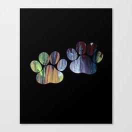 Dog Paw Prints Canvas Print