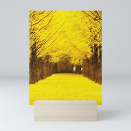 Gingko Biloba Autumn Leaves Landscape Painting by Jéanpaul Ferro Mini Art Print