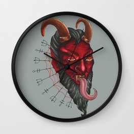 """Krampus Strikes Again"" Wall Clock"