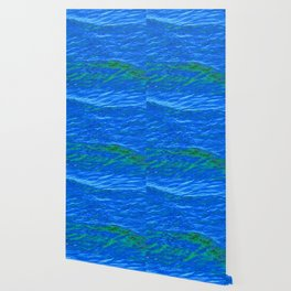 Waves Blue-Green DPG160608h Wallpaper