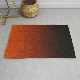 Orange & Black Glitter Gradient Rug